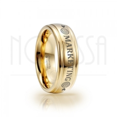 imagem MARKETING - MASSIVE GOLD ELEGANCE - ANEL DE TUNGSTÊNIO COM ACABAMENTO DE ALTO BRILHO