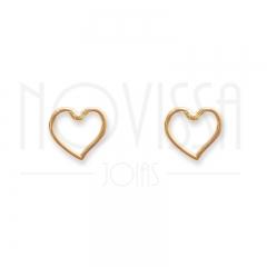 imagem MOYENNE HEART - BRINCO FOLHEADO Á OURO 18K